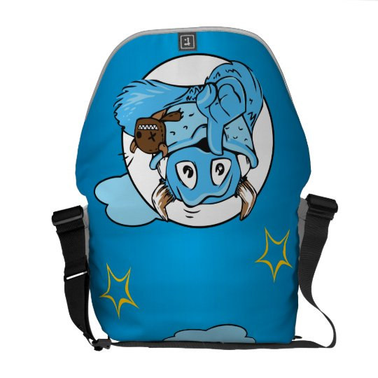 Friendly Shush Monster Messenger Bag