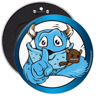Friendly Shush Monster Pinback Button