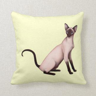 Friendly Siamese Cat American MoJo Pillow