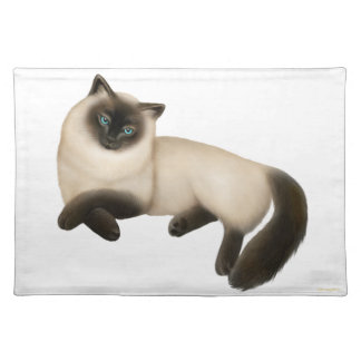 Friendly Siamese Cat Placemat