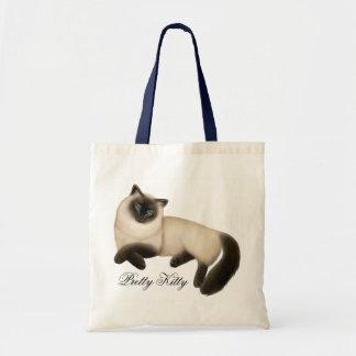 Friendly Siamese Cat Tote Bag