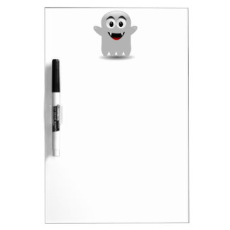 Friendly Smiling Cartoon Ghost Dry-Erase Boards