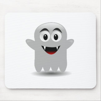 Friendly Smiling Cartoon Ghost Mousepad