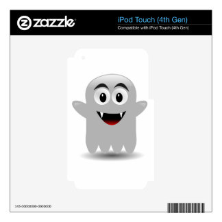 Friendly Smiling Cartoon Ghost Skin For iPod Touch 4G