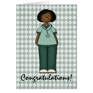 Friendly Smiling Nurse Greeting Cards