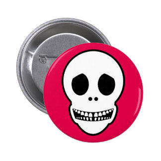 Friendly Smiling Skull Button
