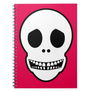 Friendly Smiling Skull Spiral Notebook