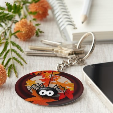 Halloween Themed Friendly spider keychain