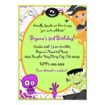 Friendly Spooks Kids Halloween Party Invitation