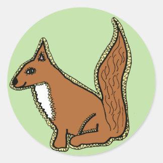 Friendly Squirrel Classic Round Sticker