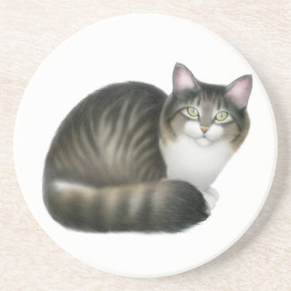 Friendly Tabby Cat Coaster