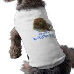 Friendly To Rabbits Doggie Ribbed Tank Top - Blue Dog T-shirt