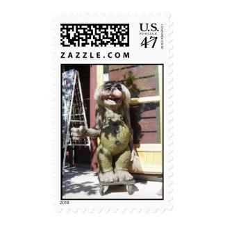 Friendly troll postage stamp