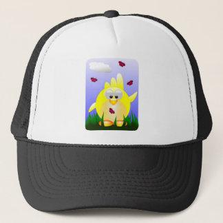Friendly waving Easter Chick Trucker Hat