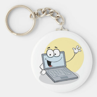 Friendly Waving Laptop Keychain