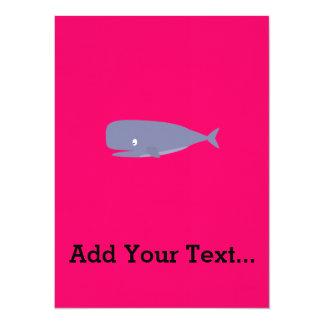 Friendly whale card