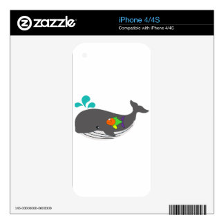 Friendly Whale iPhone 4 Decals
