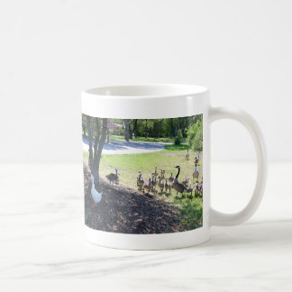 Friendly White Duck with Geese Coffee Mug