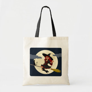 Friendly Witch Waving Tote Bag