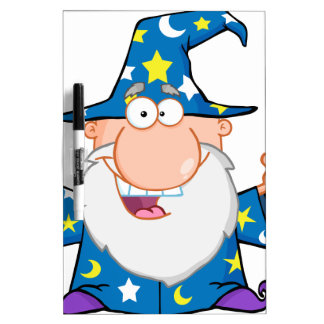 Friendly Wizard With Open Arms Dry Erase White Board