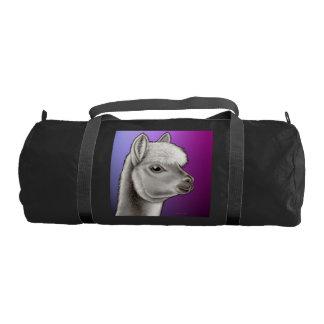 Friendly Young Alpaca Gym Duffle Bag