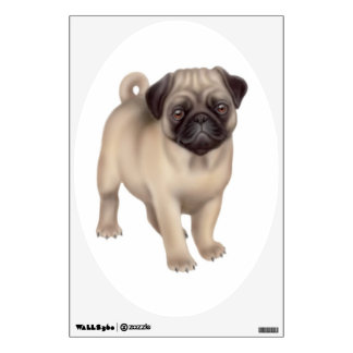 Friendly Young Pug Dog Wall Decal