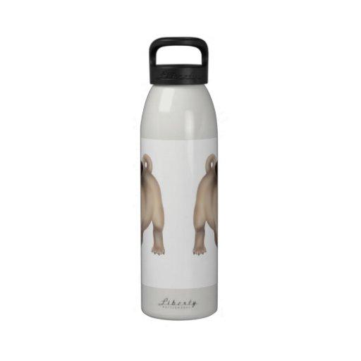 Friendly Young Pug Liberty Bottle Water Bottle