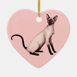 Friendly Young Siamese Cat Customizable Ornament