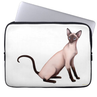 Friendly Young Siamese Cat Electronics Sleeve