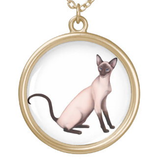 Friendly Young Siamese Cat Necklace