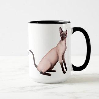 Friendly Young Siamese Cats Mug