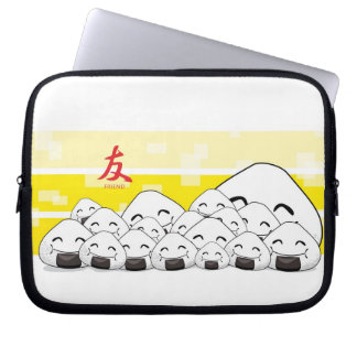 Friendly zipped! laptop sleeve