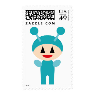 FriendlyAliensB3 Postage Stamps