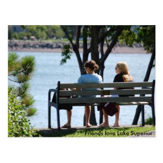 friends1, Friends love Lake Superior Postcard