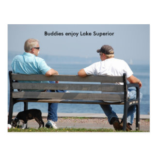 Friends2, Buddies enjoy Lake Superior Postcard