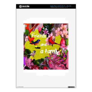 Friends aare a family skins for iPad 3