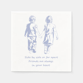 Friends always in your Heart Quote Paper Napkin
