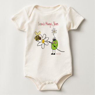 Friends Always Share Infant Organic Creeper