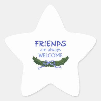 FRIENDS ALWAYS WELCOME STAR STICKER
