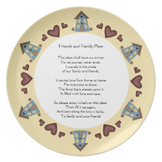 Friends and Family Pass it Along Plate