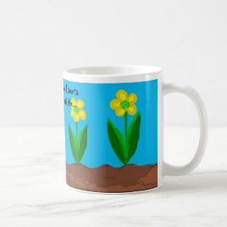 Friends And Flowers Saying Coffee Mug