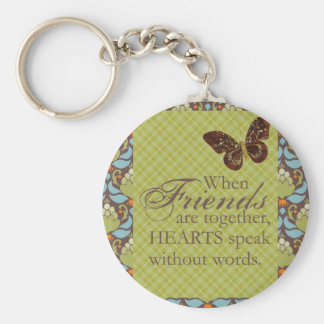 Friends and Hearts Keychain