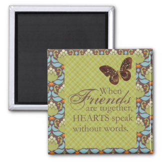 Friends and Hearts Fridge Magnet