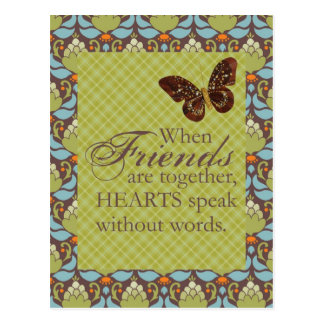 Friends and Hearts Postcard