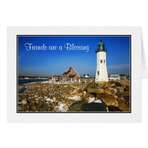 Friends are a Blessing Cape Cod Lighthouse Card