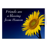Friends are a Blessing Sunflower Greeting Card