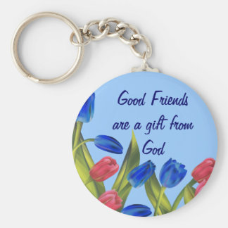 Friends are a gift basic round button keychain
