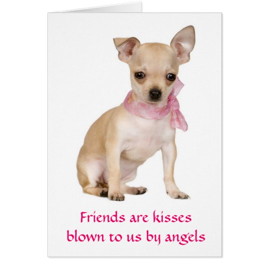 Friends Are Angels Chihuahua Puppy  Greeting Card