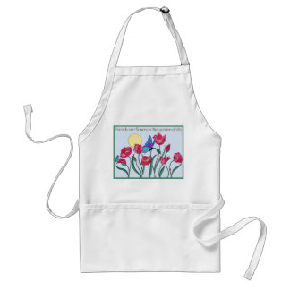 Friends are Flowers In the Garden of Life Adult Apron