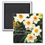 Friends are Flowers Quote Daffodils Magnet